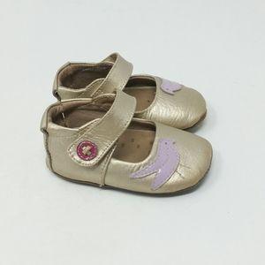 LIVIE & LUCA Gold Bird Mary Jane Walker Shoes 6-12